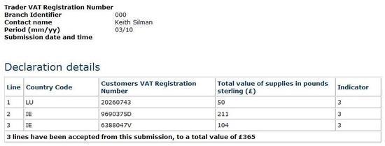 hrbs.biz example online ECSL declaration EC Sales List (ECSL) for services supplied to other EU member states